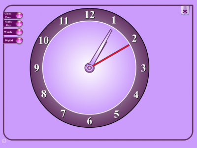 Screenshot of Clock - An Interactive Whiteboard Resource
