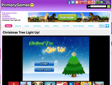 Screenshot of Christmas Tree Light Up!